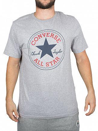 Converse Vintage Grey Heather Core Chuck Taylor Patch T-Shirt