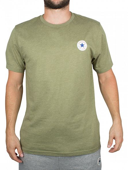 Converse Fatigue Green Core Left Chest Logo T-Shirt