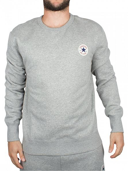 Converse Vintage Grey Heather Core Logo Sweatshirt
