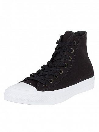 Converse Black/White/Navy Chuck II All Star Hi Trainers