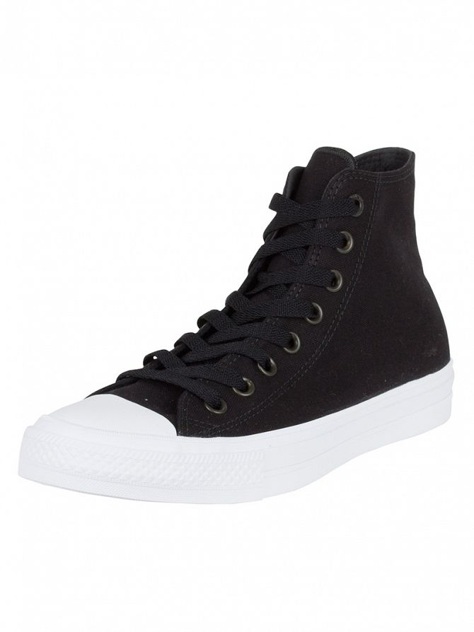 Converse Black/White/Navy Chuck II All Star Hi Trainers