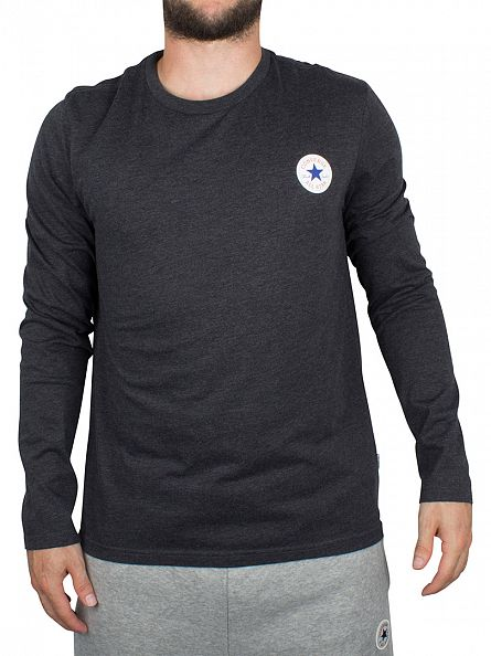 Converse Black Longsleeved Core Left Chest Logo T-Shirt