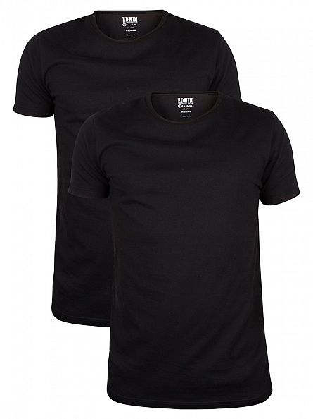 Edwin Black 2 Pack Plain T-Shirt
