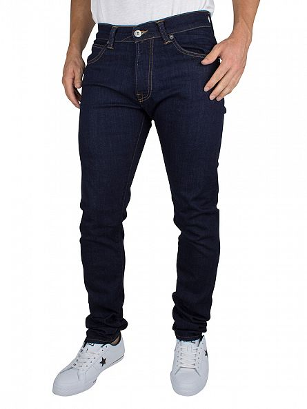 Edwin Rinsed Washed Night Blue Denim ED-85 Slim Tapered Drop Crotch Jeans