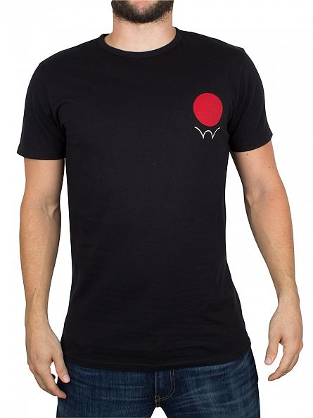 Edwin Black Red Dot Logo T-Shirt