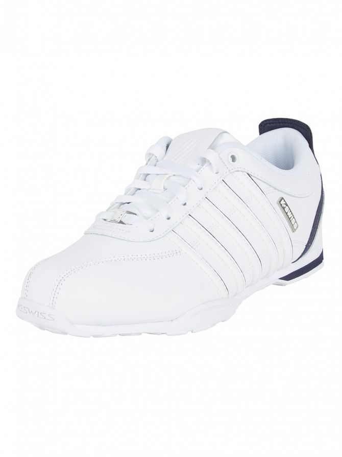 k swiss white white navy arvee 1 5 trainers 02453 959 m 23087. Black Bedroom Furniture Sets. Home Design Ideas