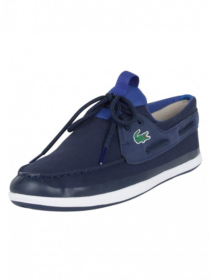 Lacoste Navy L.andsailing 316 SPM Boat Shoes