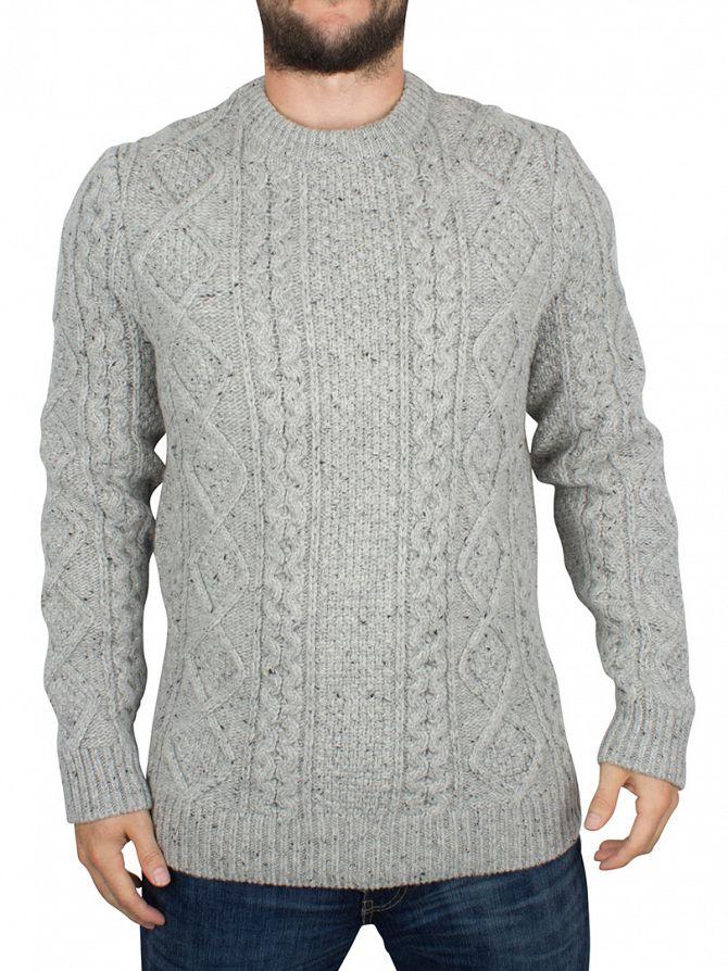 Levi's Light Grey Fisherman Cable Knit