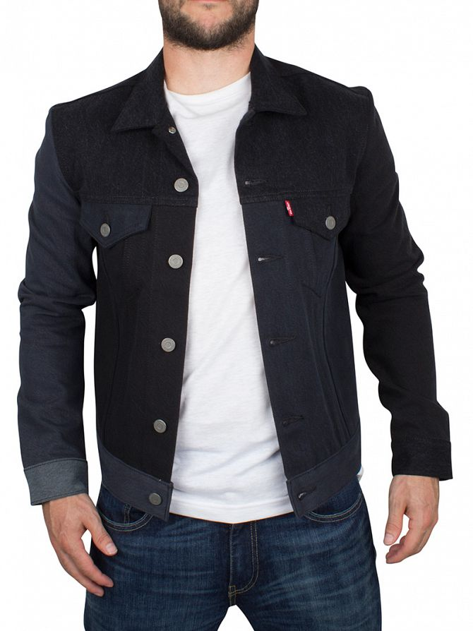 Levi's Black Slim Pristine Pieced Trucker Jacket