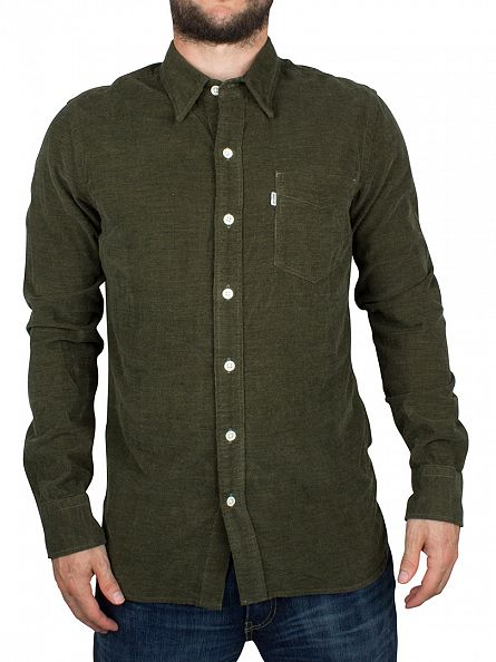 Levi's Olive Night Melange Sunset Pocket Shirt
