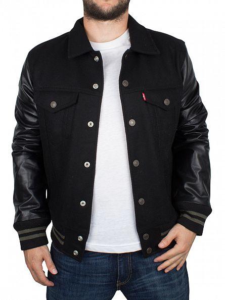 Levi's Black Varsity Trucker Hyrid Jacket