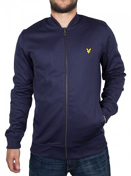 Lyle & Scott Navy Bomber Logo Jacket