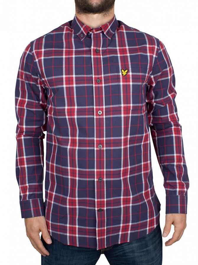 Lyle & Scott Ruby Checked Logo Shirt