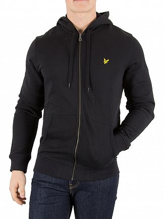 Lyle & Scott True Black Logo Zip Hoodie
