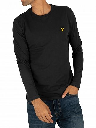 Lyle & Scott True Black Longsleeved Logo T-Shirt