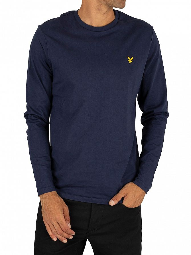 Lyle & Scott Navy Longsleeved Logo T-Shirt