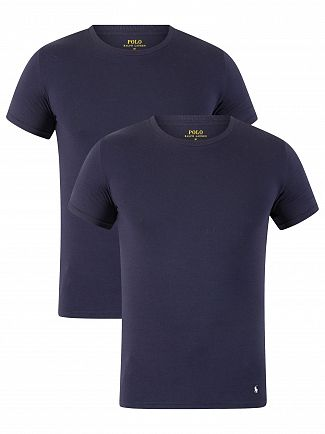 Polo Ralph Lauren Navy/Navy 2 Pack Logo T-Shirts