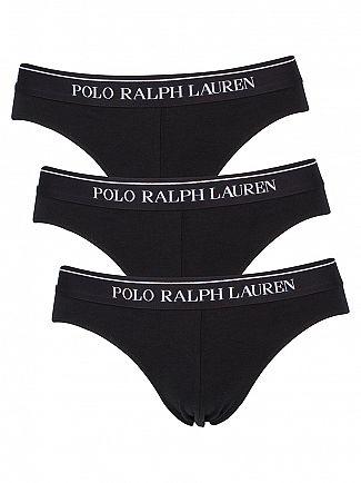 Polo Ralph Lauren Black 3 Pack Logo Classic Briefs