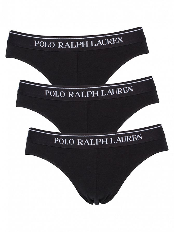 Polo Ralph Lauren Black 3 Pack Logo Classic Briefs