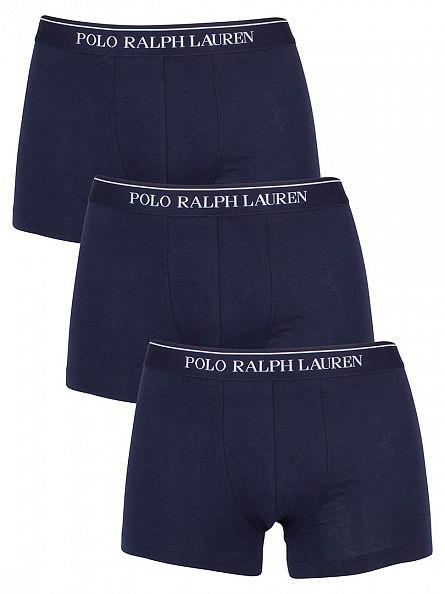Polo Ralph Lauren Navy 3 Pack Logo Trunks