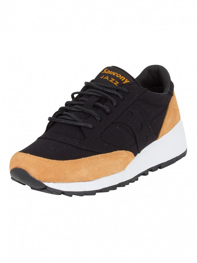 Saucony Black/Yellow Jazz 91 Trainers