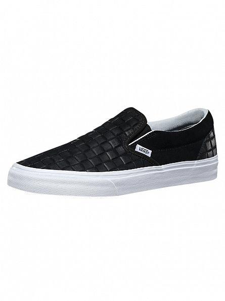 Vans Black Classic Checkers Slip-Ons