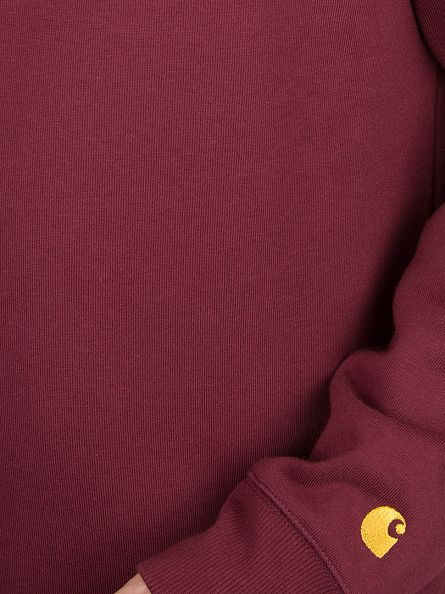 Carhartt WIP Chianti Red Plain Chase Sweatshirt