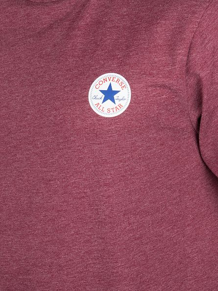 Converse Bordeaux Core Left Chest Logo T-Shirt