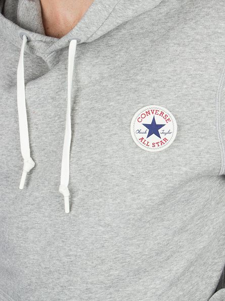 Converse Vintage Grey Heather Core Popover Logo Hoodie
