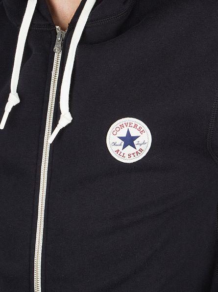 Converse Black Core Zip Logo Hoodie