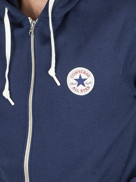Converse Nighttime Navy Core Zip Logo Hoodie