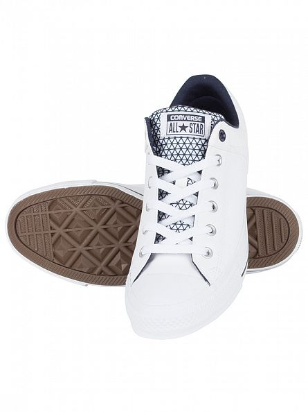Converse White/Obsidian/Black CTAS High Street OX Trainers