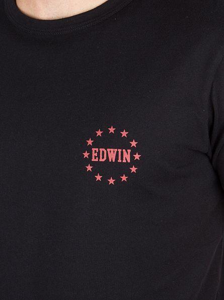 Edwin Black Union Logo T-Shirt