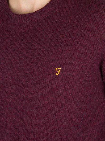 Farah Vintage Bordeaux Rosecroft Logo Knit