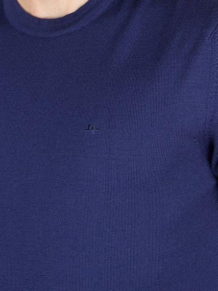 J Lindeberg Ink Blue Lyle True Merino Logo Knit