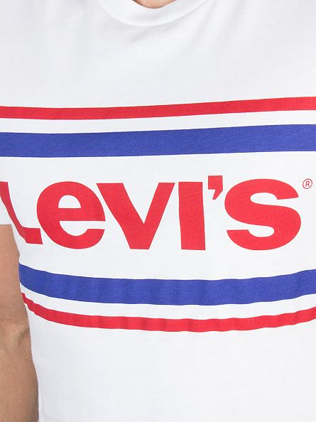 Levi's White Graphic Setin Logo T-Shirt