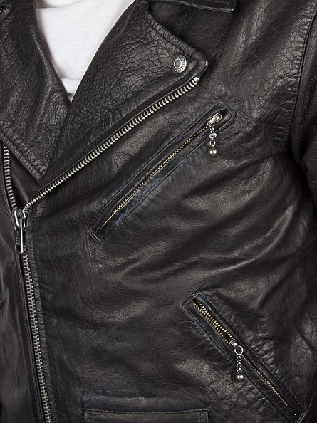 Levi's Black Moto Leather Jacket