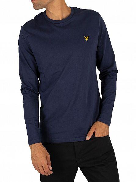 Lyle & Scott Navy Longsleeved Logo T-Shirt