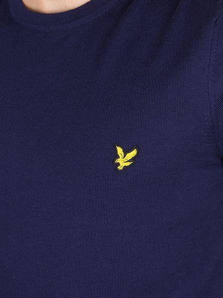 Lyle & Scott Navy Merino Logo Knit