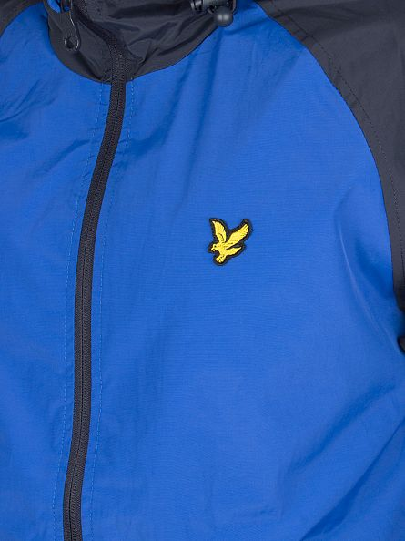 Lyle & Scott Lake Blue Panel Logo Anorak