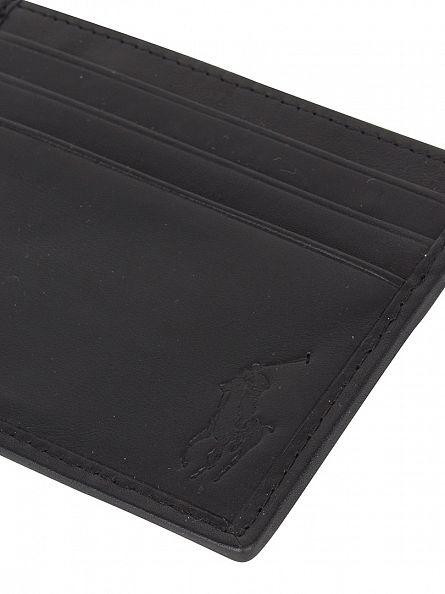 Polo Ralph Lauren Black Card Case Logo Wallet