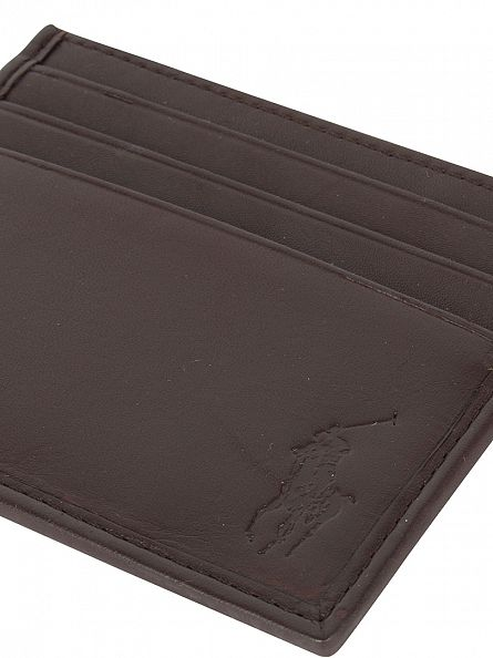 Polo Ralph Lauren Mahogany Card Case Logo Wallet