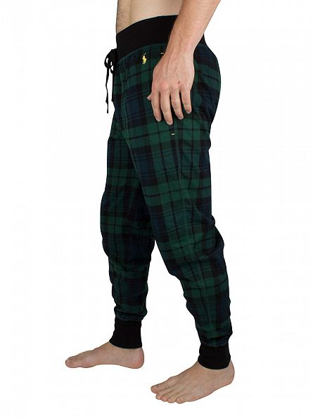 Polo Ralph Lauren Blackwatch Green Checked Logo Pyjama Bottoms