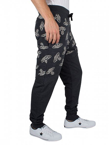 Vivienne Westwood Black Time Machine Logo Panel Tracksuit Joggers