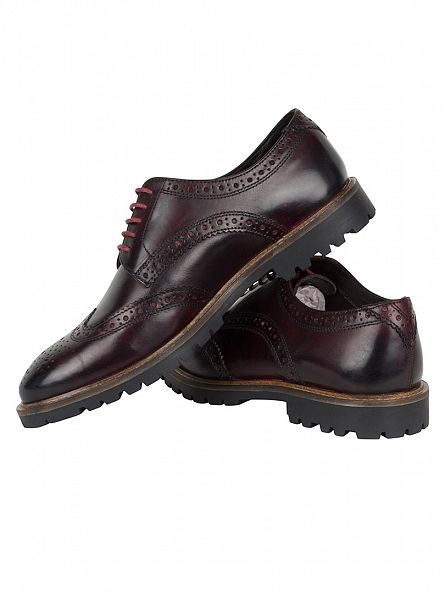 Base London Washed Bordo Trench Shoes