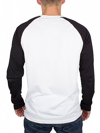 Carhartt WIP White/Black Longsleeved Plain Dodgers Raglan T-Shirt