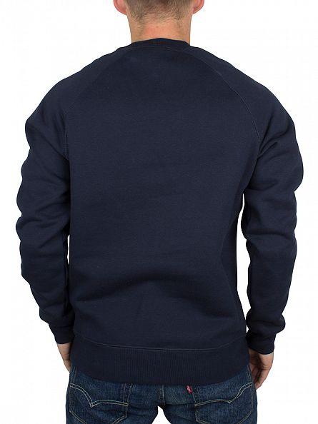 Carhartt WIP Navy Plain Chase Sweatshirt