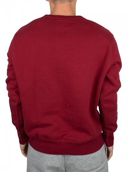 Converse Red Block Core Logo Sweatshirt