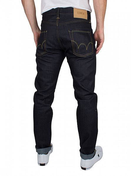 Edwin Deep Blue Denim ED-55 Regular Tapered Jeans