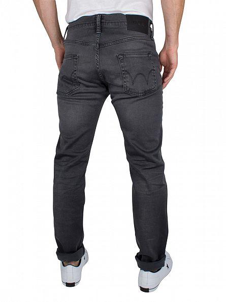 Edwin Ink Black Denim Grey ED-55 Regular Tapered Jeans